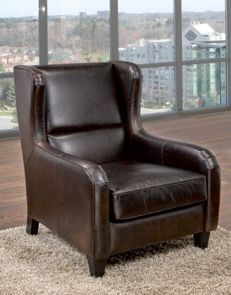 797 - Leather Chair, Luxury Leather Chair, Quality Leather Chair, Modern Leather Chair, Leather Living Room Chair by LeatherCraft Furniture