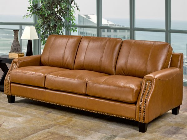 Mcqueen -  Living Room Luxury Leather Sofa by LeatherCraft Furniture - Manufacturer of Top Grain Leather Sofa based in Toronto, Canada having dealer in Brampton, Vaughan, Pickering, Mississauga, Oakville, Scarborough, Kingston, Sudbury, Quebec and Other provinces of Canada