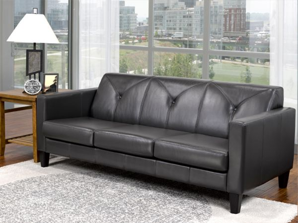 Metropolitan 300 -  Living Room Brown Leather Sofa by LeatherCraft Furniture - Manufacturer of Top Grain Leather Sofa based in Toronto, Canada having dealer in Brampton, Vaughan, Pickering, Mississauga, Oakville, Scarborough, Kingston, Sudbury, Quebec and Other provinces of Canada